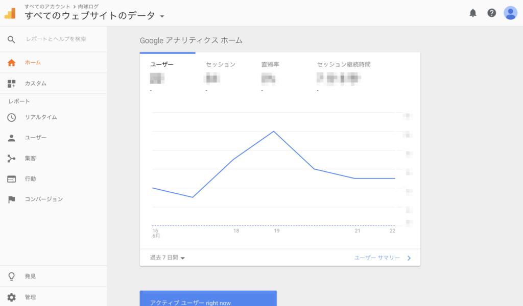 Google Analyticsトップページ